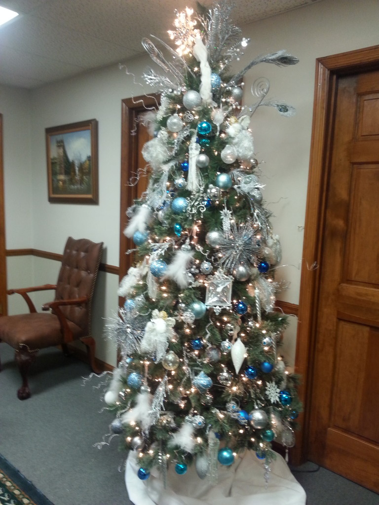 Office tree-Getting ready for the holidays!